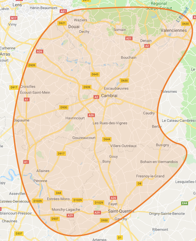 carte location benne vertic